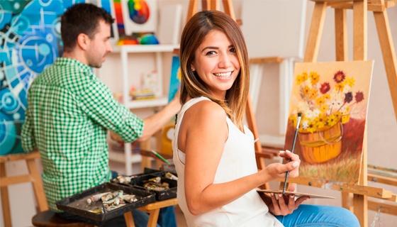 """Мастер-класс по живописи акрилом для одного, двух или трех человек от художественной мастерской """"Хочу красиво"""". Раскройте свой т"""